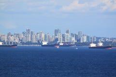 Σκάφη και ορίζοντας του Βανκούβερ Στοκ εικόνα με δικαίωμα ελεύθερης χρήσης