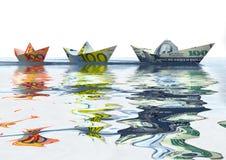 σκάφη νομίσματος Στοκ εικόνες με δικαίωμα ελεύθερης χρήσης