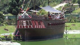 Σκάφη πειρατών, βάρκες, Sailboats, Watercraft απόθεμα βίντεο