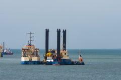 Σκάφη που εκβαθύνουν στο λιμένα Vordingborg στοκ εικόνα με δικαίωμα ελεύθερης χρήσης