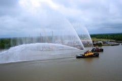 Σκάφη πυρκαγιάς που εκπαιδεύουν στη σαβάνα στη Γεωργία ΗΠΑ Στοκ Φωτογραφία