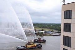 Σκάφη πυρκαγιάς που εκπαιδεύουν στη σαβάνα στη Γεωργία ΗΠΑ Στοκ Εικόνα