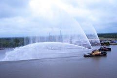 Σκάφη πυρκαγιάς που εκπαιδεύουν στη σαβάνα στη Γεωργία ΗΠΑ Στοκ φωτογραφίες με δικαίωμα ελεύθερης χρήσης