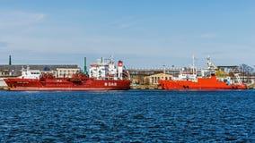 Σκάφη στην αποβάθρα Στοκ Εικόνες
