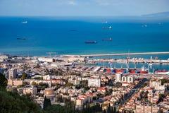 Σκάφη στον κόλπο της Χάιφα στοκ φωτογραφία με δικαίωμα ελεύθερης χρήσης