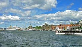 Σκάφη στο λιμένα του Μπέργκεν (Νορβηγία) Στοκ φωτογραφίες με δικαίωμα ελεύθερης χρήσης