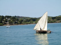 Σκάφη στο λιμένα Ankify, Ankify, Μαδαγασκάρη Στοκ Εικόνες