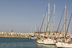 Σκάφη στο λιμένα Rethymnon.Krete Στοκ Φωτογραφίες