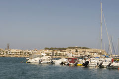 Σκάφη στο λιμένα Rethymnon.Krete Στοκ Εικόνες