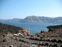 Σκάφη στο νησί ηφαιστείων Στοκ φωτογραφία με δικαίωμα ελεύθερης χρήσης