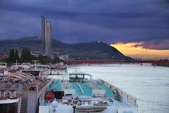 Σκάφη της γραμμής κρουαζιέρας Δούναβη Στοκ Εικόνα