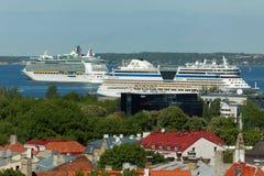 Σκάφη της γραμμής κρουαζιέρας στο Ταλίν, Εσθονία Στοκ φωτογραφία με δικαίωμα ελεύθερης χρήσης