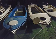 Σκάφη τη νύχτα Στοκ Εικόνες
