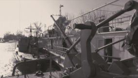 Σκάφη του πολεμικού ναυτικού απόθεμα βίντεο