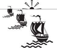 σκάφη τρία Στοκ Φωτογραφία