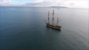 σκάφη ψηλά Δουβλίνο Riverfest 2017 Ιρλανδία απόθεμα βίντεο