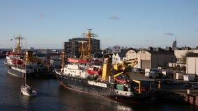 Σκάφη Wega και Komet της ομοσπονδιακής θαλάσσιας και υδρογραφικής αντιπροσωπείας BSH απόθεμα βίντεο