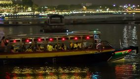 Σκάφος αναψυχής στο Κόλπο απόθεμα βίντεο