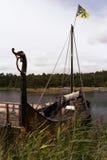 Σκάφος Βίκινγκ στη λίμνη Vaenern Στοκ Εικόνες