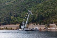 Σκάφος γερανών κατασκευής Στοκ Εικόνες