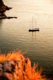 Σκάφος γιοτ στη θάλασσα Στοκ Φωτογραφίες