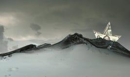 σκάφος εγγράφου Στοκ εικόνες με δικαίωμα ελεύθερης χρήσης