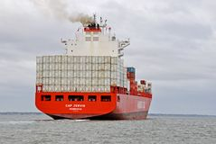 Σκάφος εμπορευματοκιβωτίων ΚΑΠ JERVIS στοκ φωτογραφία με δικαίωμα ελεύθερης χρήσης