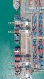 Σκάφος εμπορευματοκιβωτίων στην εξαγωγή και την επιχείρηση και τις διοικητικές μέριμνες εισαγωγών Σκάφος Στοκ Φωτογραφία