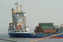 σκάφος εμπορευματοκιβωτίων φορτίου Στοκ Εικόνες