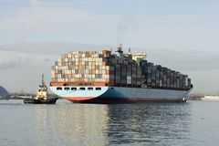 σκάφος εμπορευματοκιβωτίων Στοκ Εικόνες