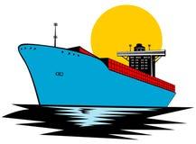 σκάφος εμπορευματοκι&beta Στοκ Εικόνα