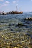 Σκάφος ευχαρίστησης στη θάλασσα Στοκ Φωτογραφίες