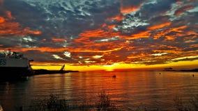 Σκάφος ηλιοβασιλέματος & x29  Στοκ Εικόνες