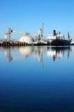 σκάφος θαλάσσιων λιμένων αντανάκλασης στοκ εικόνα με δικαίωμα ελεύθερης χρήσης