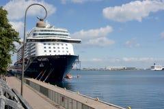 σκάφος λιμένων κρουαζιέρ&a Στοκ Φωτογραφίες