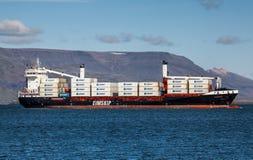 σκάφος λιμένων του Γντανσκ Πολωνία εμπορευματοκιβωτίων Στοκ Εικόνα