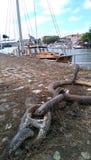 Σκάφος και σίδηρος Στοκ Φωτογραφίες
