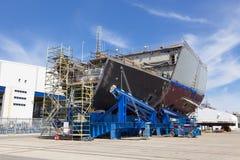 σκάφος κατασκευής κάτω Στοκ εικόνα με δικαίωμα ελεύθερης χρήσης