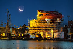 σκάφος κατασκευής κάτω Στοκ φωτογραφίες με δικαίωμα ελεύθερης χρήσης