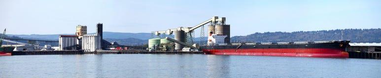 σκάφος λιμένων φορτίου longview wa Στοκ Εικόνες