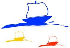 σκάφος λογότυπων στοκ εικόνα με δικαίωμα ελεύθερης χρήσης