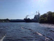 Σκάφος μάχης το απόγευμα Στοκ φωτογραφία με δικαίωμα ελεύθερης χρήσης
