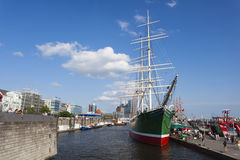 Σκάφος μουσείων Rickmers Rickmer στο Αμβούργο, εκδοτικό Στοκ Εικόνες
