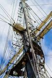 σκάφος ξαρτιών ψηλό Στοκ εικόνες με δικαίωμα ελεύθερης χρήσης