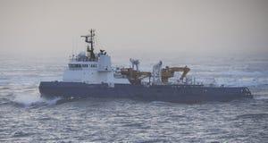 Σκάφος παγοθραυστών στην Αρκτική, θαλάσσιος πάγος Beaufort Στοκ εικόνα με δικαίωμα ελεύθερης χρήσης