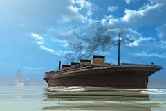 σκάφος παγόβουνων Στοκ εικόνα με δικαίωμα ελεύθερης χρήσης