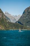 Σκάφος πανιών ήχων Milford Στοκ Φωτογραφία