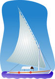 σκάφος πανιών Διανυσματική απεικόνιση