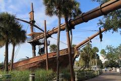 Σκάφος πειρατών από το φυσικό περίπατο στο θέρετρο της Disney Στοκ Εικόνα