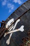 Σκάφος πειρατών με το κρανίο 2 Στοκ εικόνες με δικαίωμα ελεύθερης χρήσης